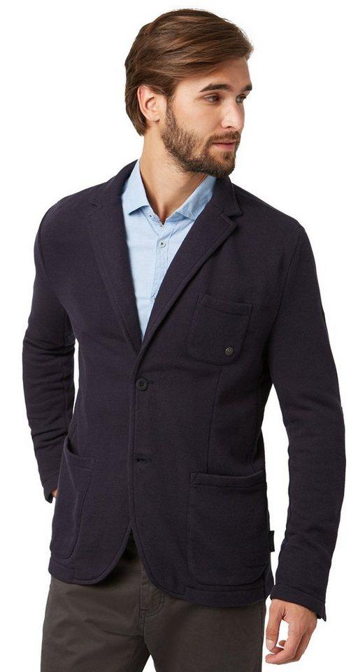 TOM TAILOR Blazer »Jersey-Blazer mit Taschen« in navy