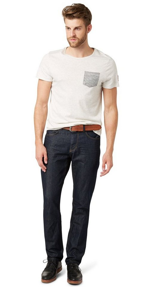 TOM TAILOR Jeans »Jeans in dunkler Waschung« in blue rinse denim