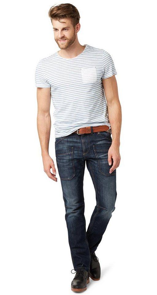 TOM TAILOR Jeans »Used-Jeans mit Crinkles« in vintage stone wash d
