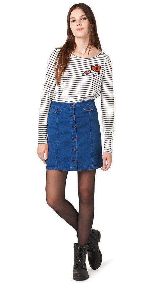 TOM TAILOR DENIM Rock »a-shaped mini skirt« in new blue denim
