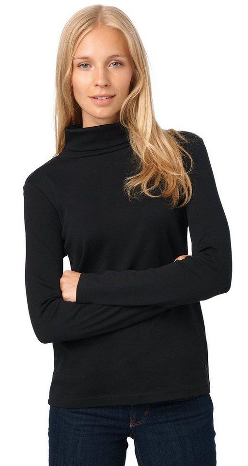 TOM TAILOR T-Shirt »schlichtes Rollkragen-Shirt« in black