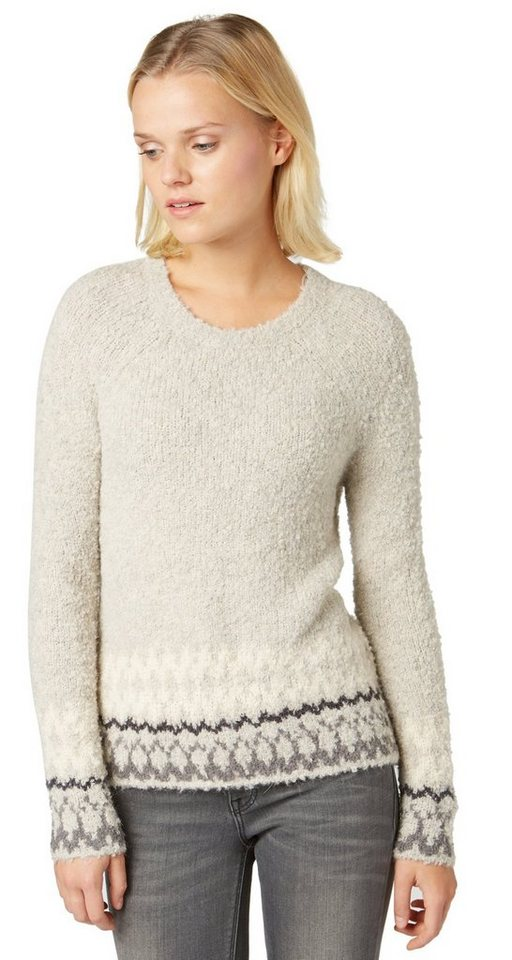 TOM TAILOR Pullover »Pullover mit Alpaka-Anteil« in light dove grey