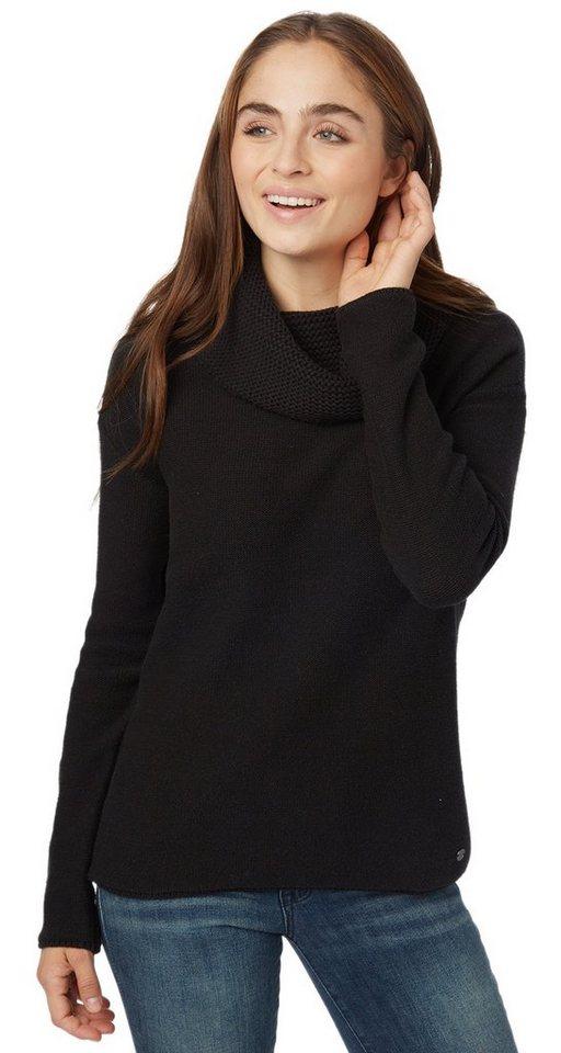 TOM TAILOR Pullover »Rollkragenpullover mit Struktur« in black