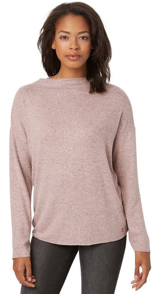 TOM TAILOR T-Shirt »cosy knit shirt« in Taste of berry