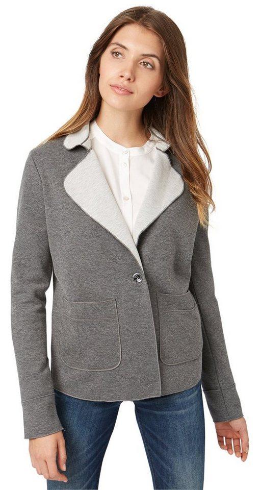 TOM TAILOR Blazer »Jersey-Blazer mit Taschen« in smoked pearl grey