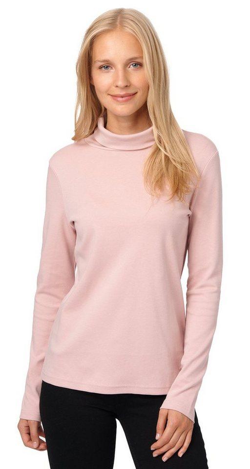 TOM TAILOR T-Shirt »schlichtes Rollkragen-Shirt« in Taste of berry