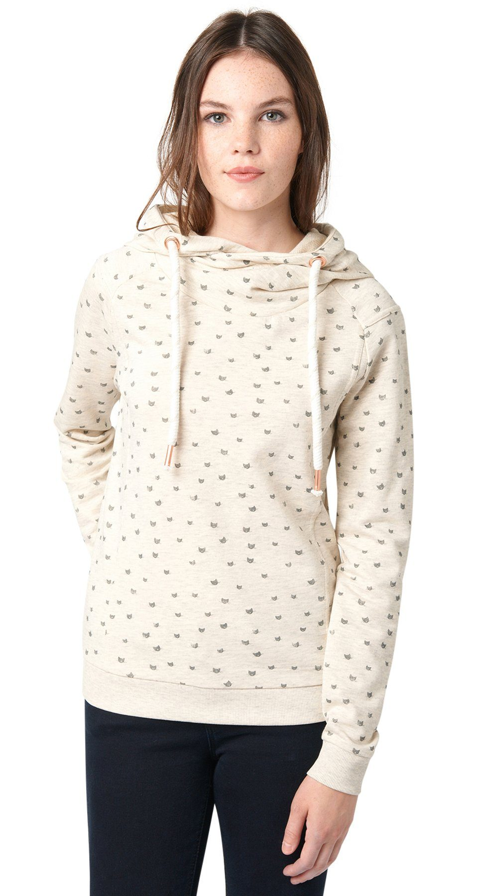 TOM TAILOR DENIM Sweatshirt »Hoodie mit Katzen-Print«
