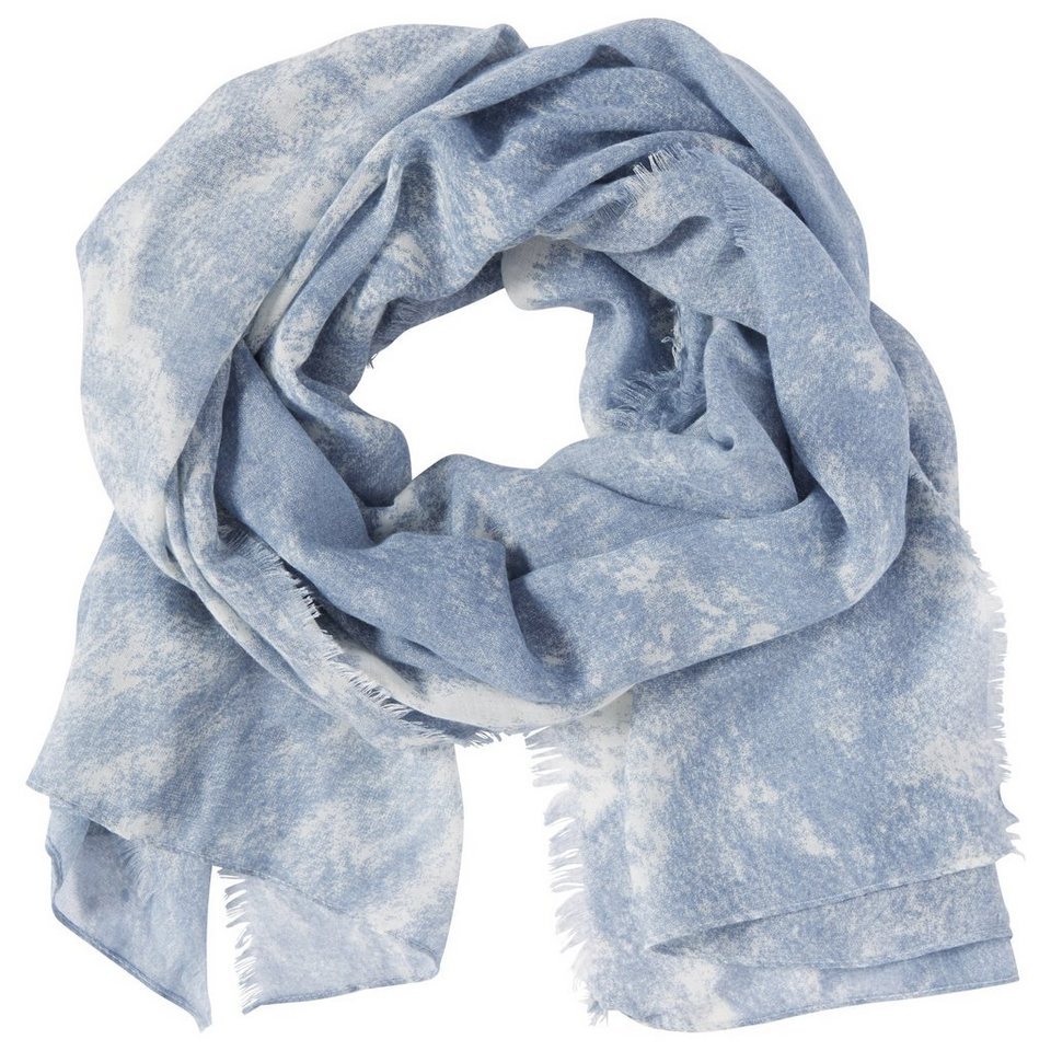 TOM TAILOR Schal »washed look scarf« in Fern Blue