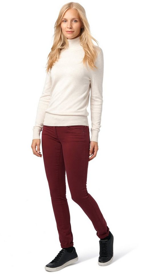 TOM TAILOR Hose »farbige Hose mit Stretch-Anteil« in tawny port red