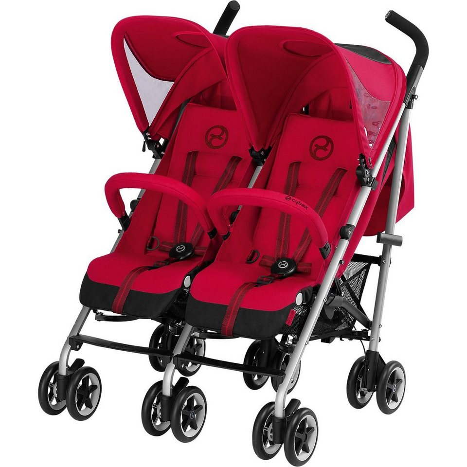 Cybex Zwillingsbuggy Twinyx B, Gold-Line, Infra Red-Red, 2017 in rot