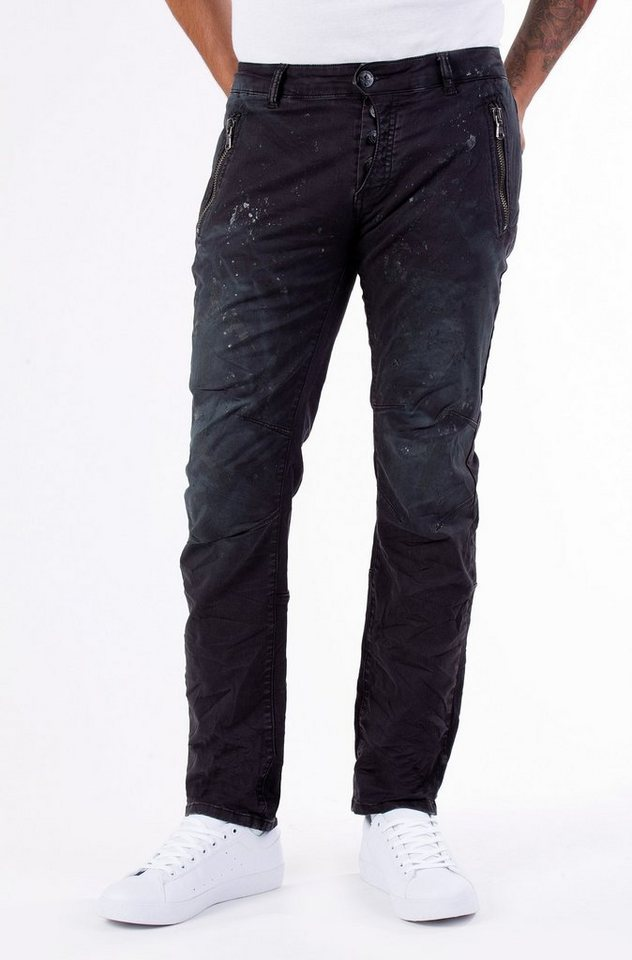 Blue Monkey Stretch-Jeans »Alva 2012« in schwarz