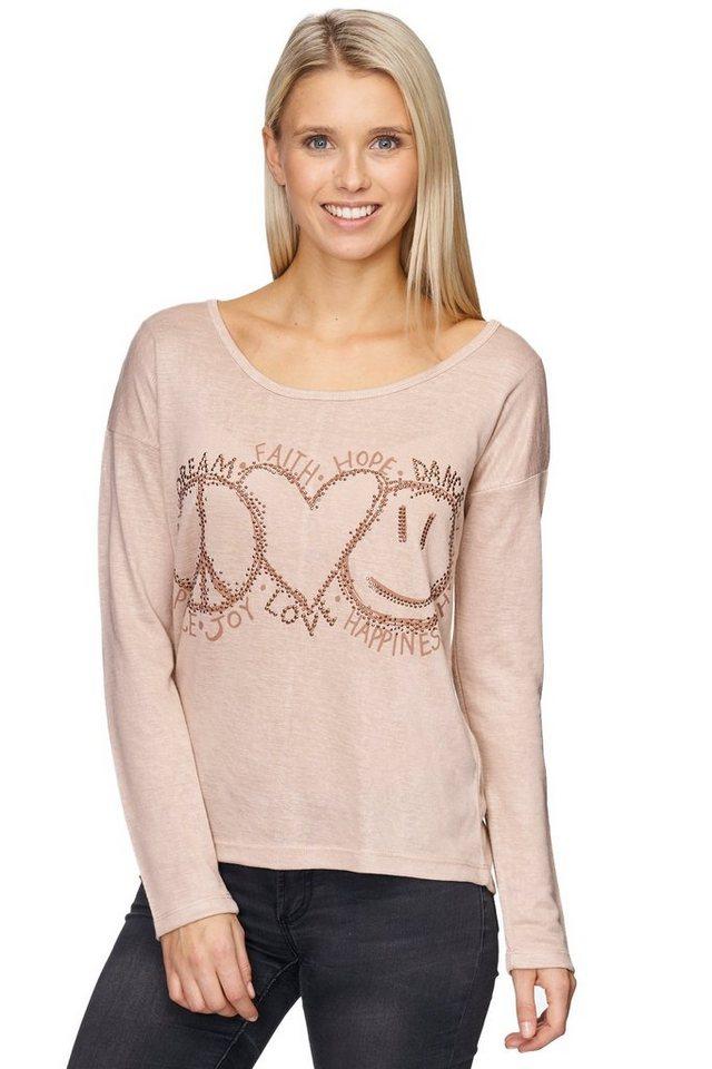 Decay Pullover in Feinstrick mit überschnittener Schulter und Ziernieten in nude