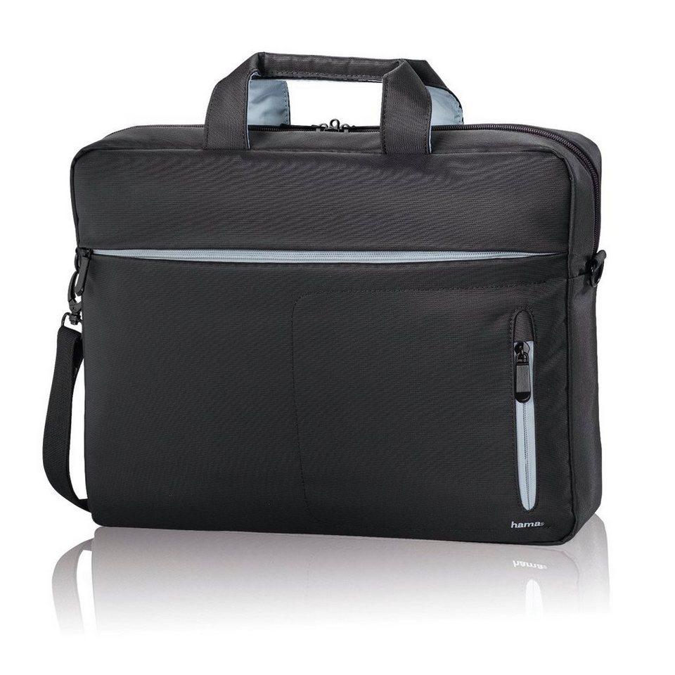 """Hama Laptop Tasche bis 44 cm (17,3"""") Computertasche gepolstert »Schultertasche Umhängetasche« in Grau/Schwarz"""