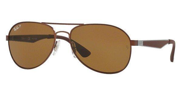 RAY-BAN Herren Sonnenbrille » RB3549« in 012/83 - braun/braun