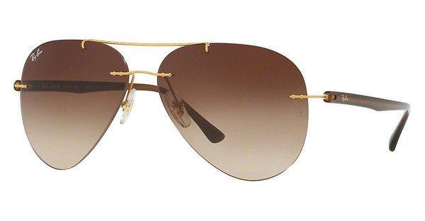RAY-BAN Herren Sonnenbrille » RB8058« in 157/13 - gold/braun