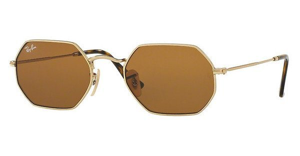 RAY-BAN Sonnenbrille » RB3556N« in 001/33 - gold/braun