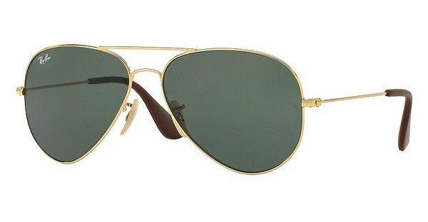 RAY-BAN Sonnenbrille » RB3558« in 001/71 - gold/grün