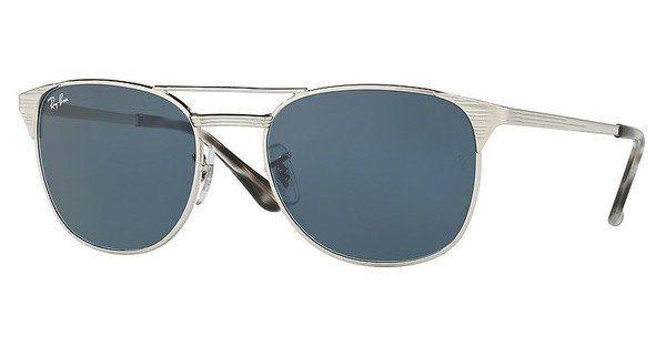 RAY-BAN Herren Sonnenbrille » RB3429M« in 003/R5 - silber/blau