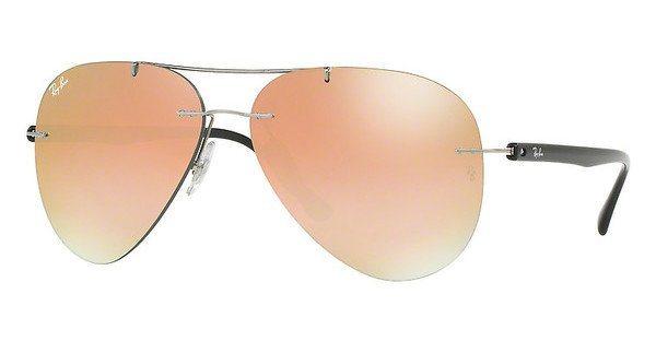 RAY-BAN Herren Sonnenbrille » RB8058« in 159/B9 - grau/rosa
