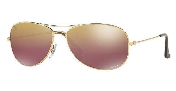 RAY-BAN Herren Sonnenbrille » RB3562« in 001/6B - gold/gold