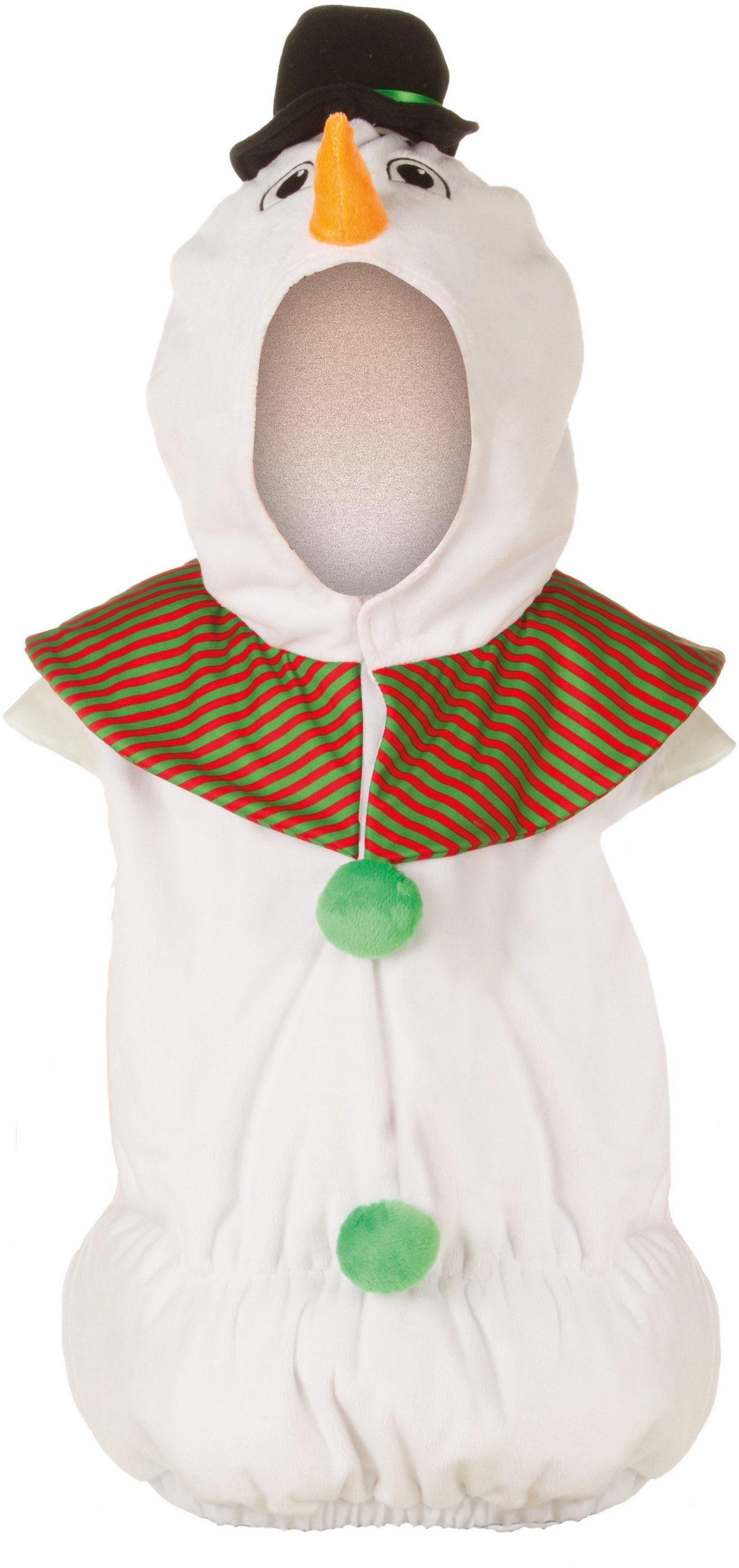 Heunec Karneval Kostüm für Kinder, Größe 128, »Kostüm-Weste Schneemann«