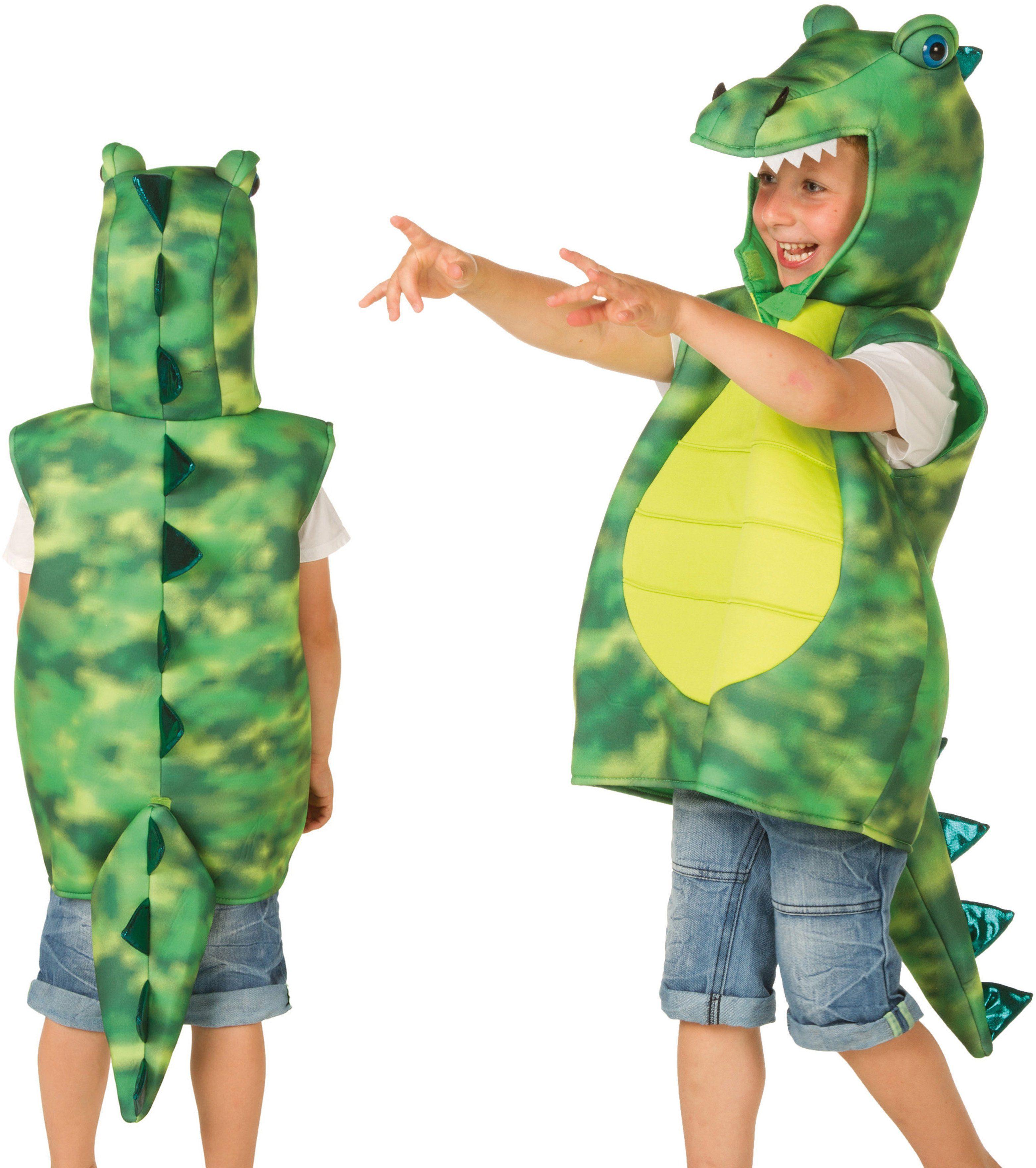 Heunec Karneval Cape für Kleinkinder (0-3 Jahre) bis Größe 98, »Kostüm-Weste Drache grün«
