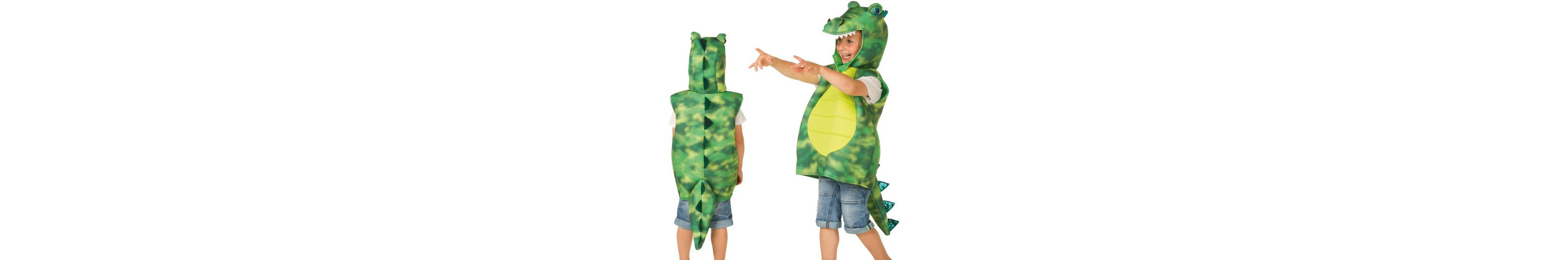 Heunec Karneval Kostüm für Kinder, Größe 128, »Kostüm-Weste Drache grün«