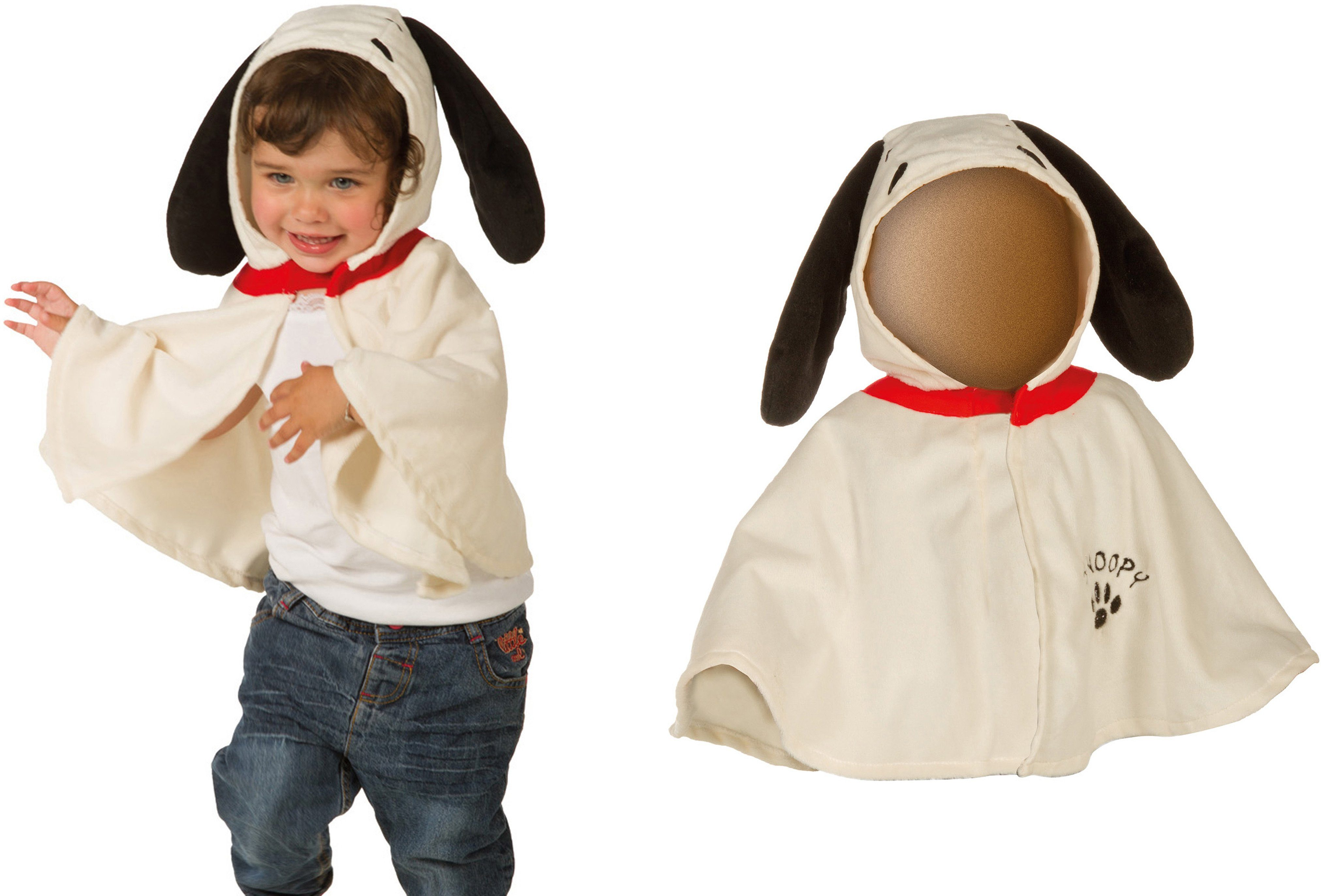 Heunec Karneval Cape für Kleinkinder (0-3 Jahre) bis Größe 98, »Karneval Kinder-Cape Snoopy«