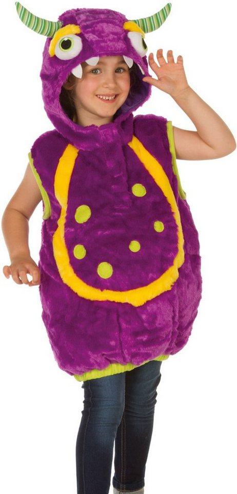 Heunec Karneval Kostüm für Kinder, Größe 128, »Kostüm-Weste Monster lila«