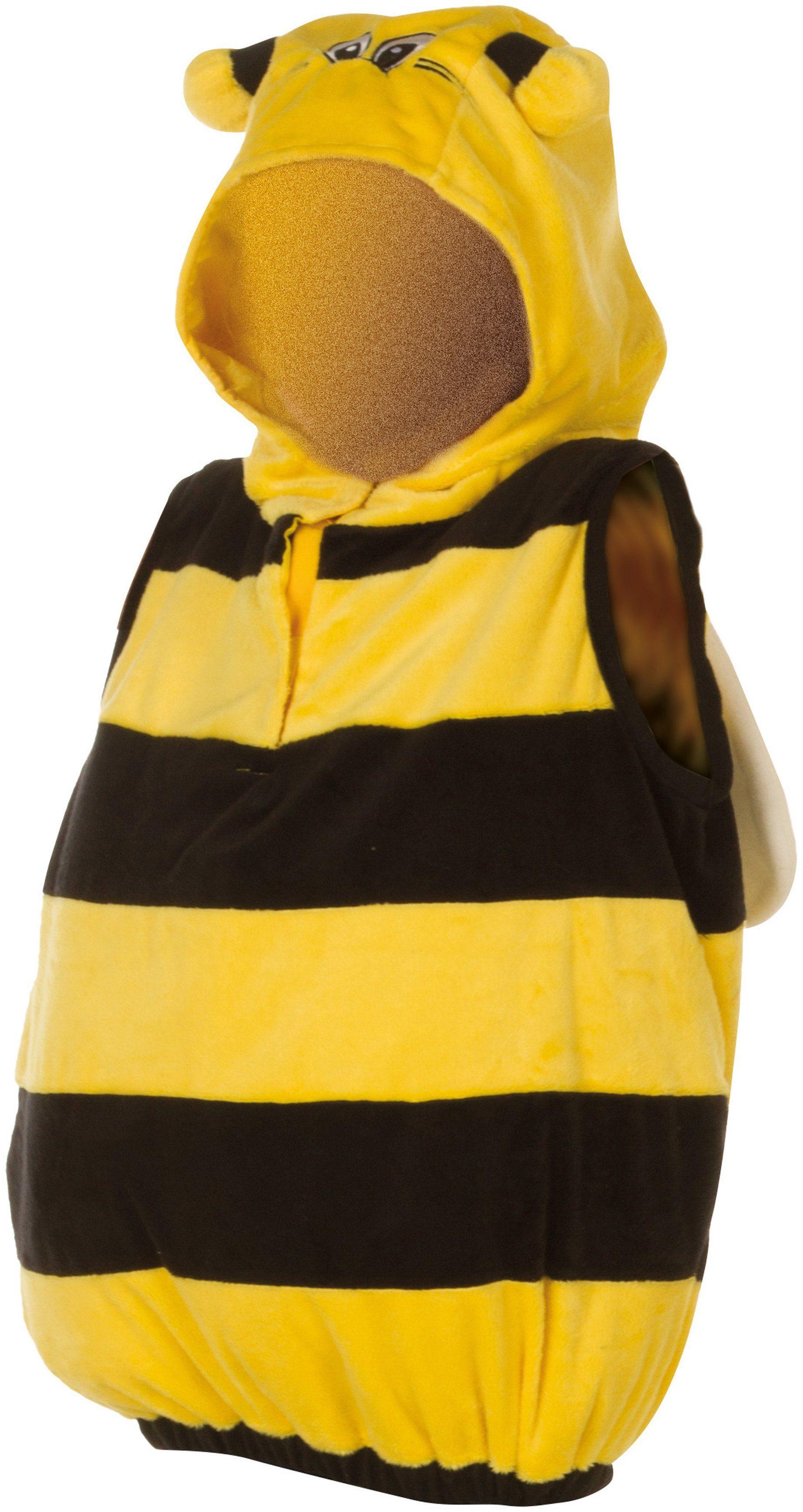Heunec Karneval Kostüm für Kinder, Größe 128, »Kostüm-Weste Biene«