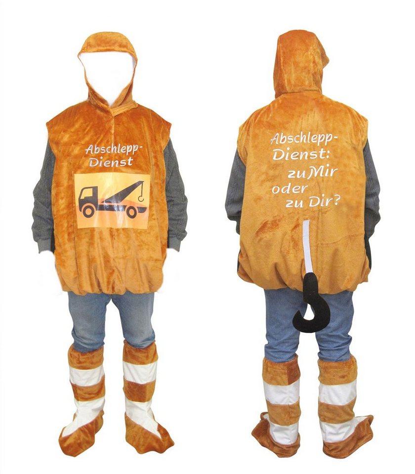 Heunec Karneval Kostüm, Größe L, »Kostüm Abschleppdienst« in orange