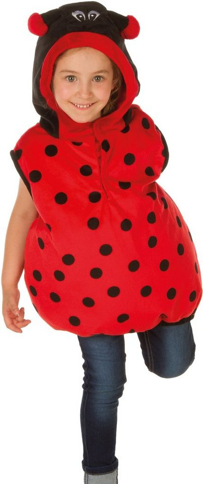 Heunec Karneval Kostüm für Kinder, Größe 128, »Kostüm-Weste Käfer« in rot/schwarz