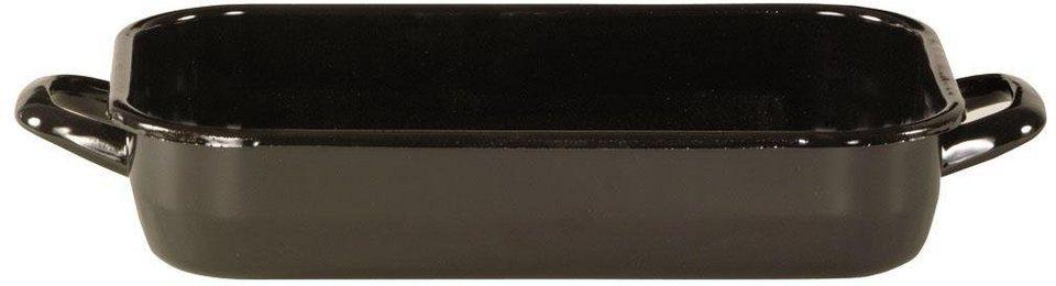 Emaille-Bräter, Krüger in schwarz