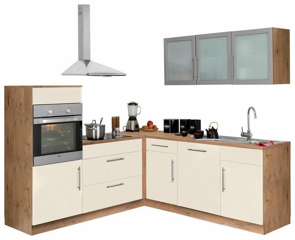 winkelk che aachen mit e ger ten stellbreite 210x220 cm mit stangengriffen aus metall online. Black Bedroom Furniture Sets. Home Design Ideas