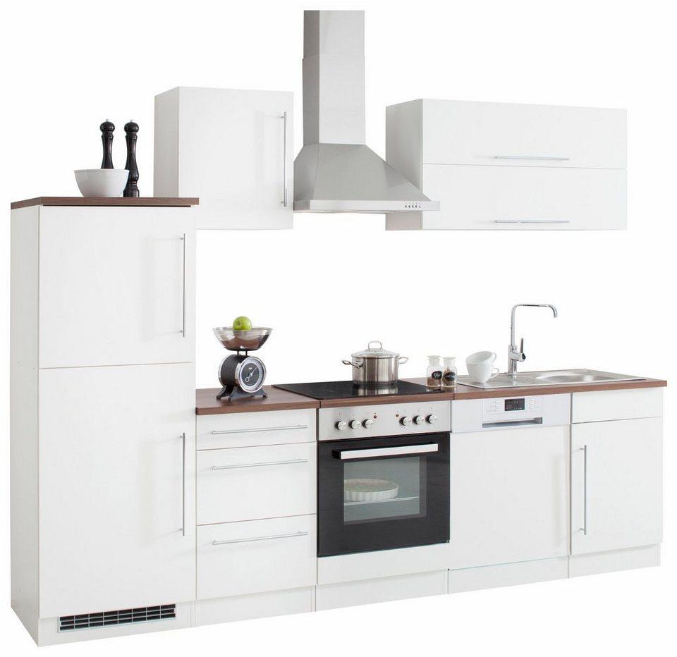 Held Möbel Küchenzeile »Samos« ohne E-Geräte, Breite 280 cm in weiß