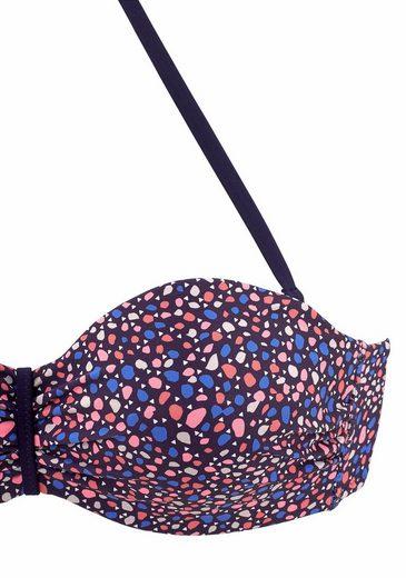 s.Oliver RED LABEL Beachwear Bügel-Bandeau-Bikini mit schönem Sommerprint