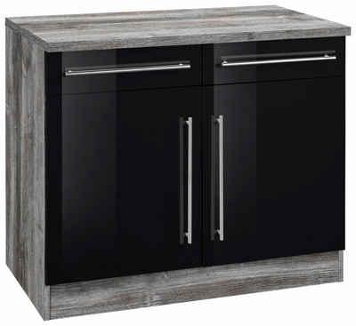 Küchenschrank in schwarz online kaufen | OTTO | {Küchen unterschrank schwarz 48}