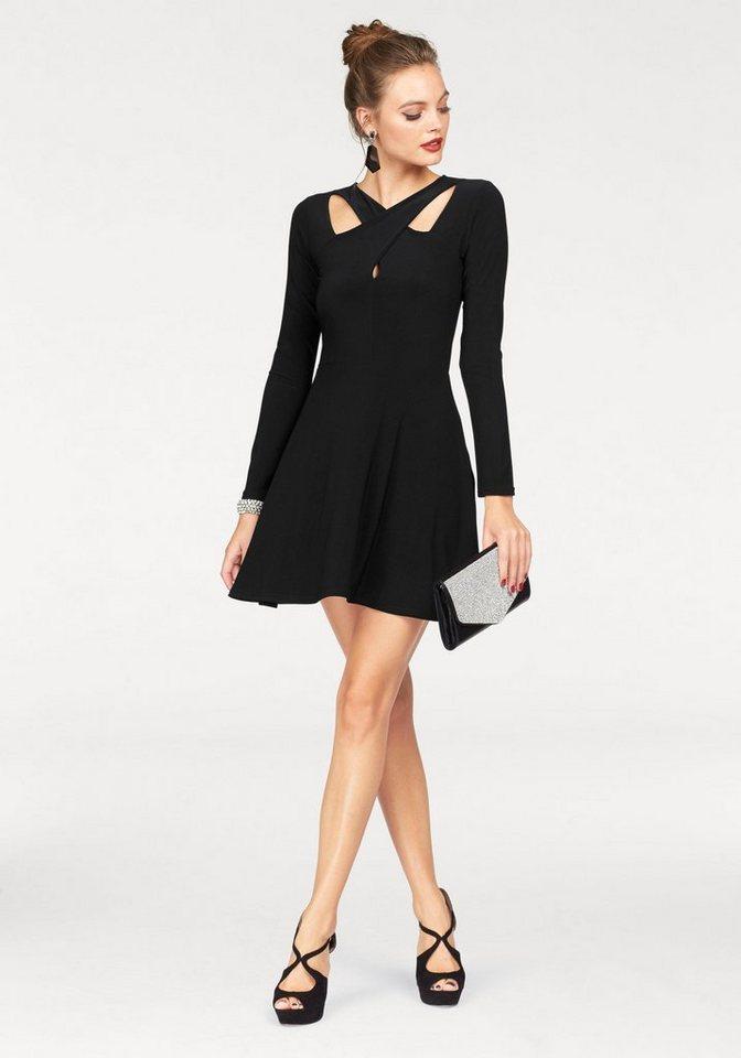 Melrose Jerseykleid mit Cut Out-Optik in schwarz