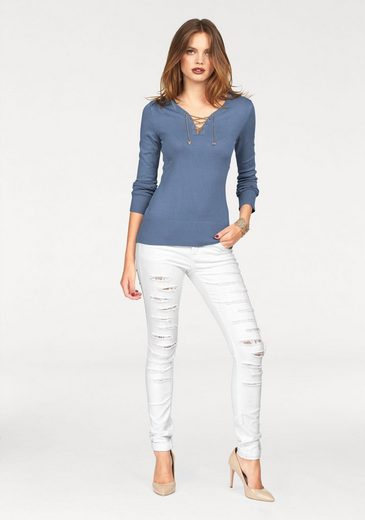 Melrose V-neck-sweater, With Chains-laces