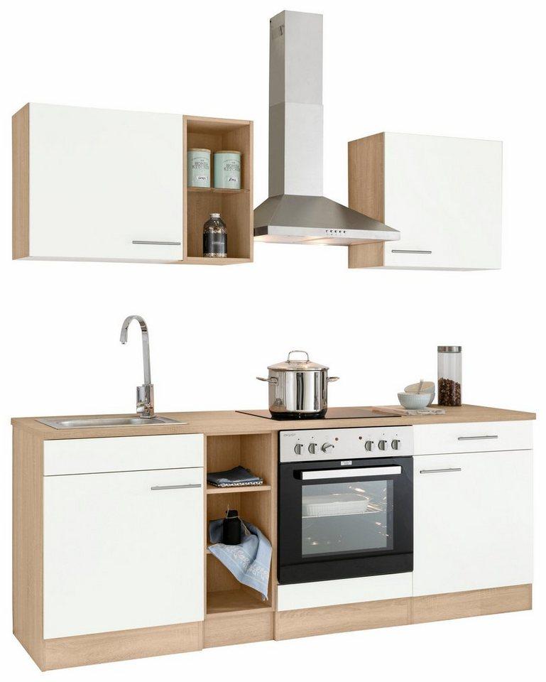 Optifit Küchenzeile »Kalmar« ohne E-Geräte, Breite 210 cm in weiß