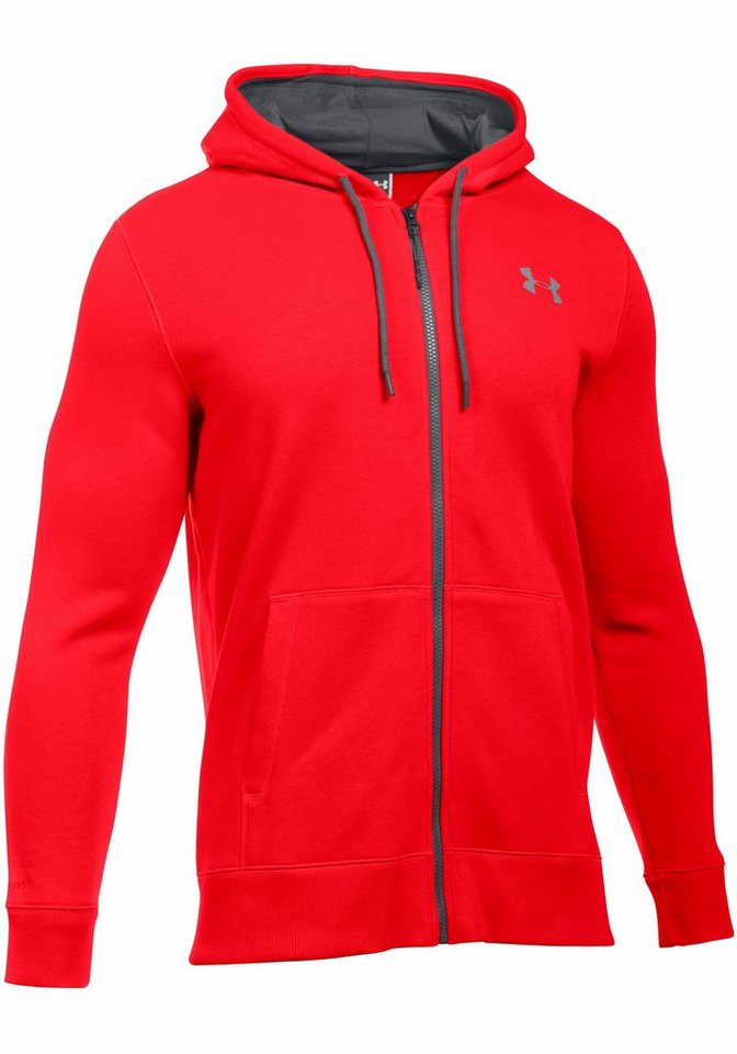 Under Armour® Kapuzensweatjacke »STORM RIVAL COTTON FULL ZIP« in rot
