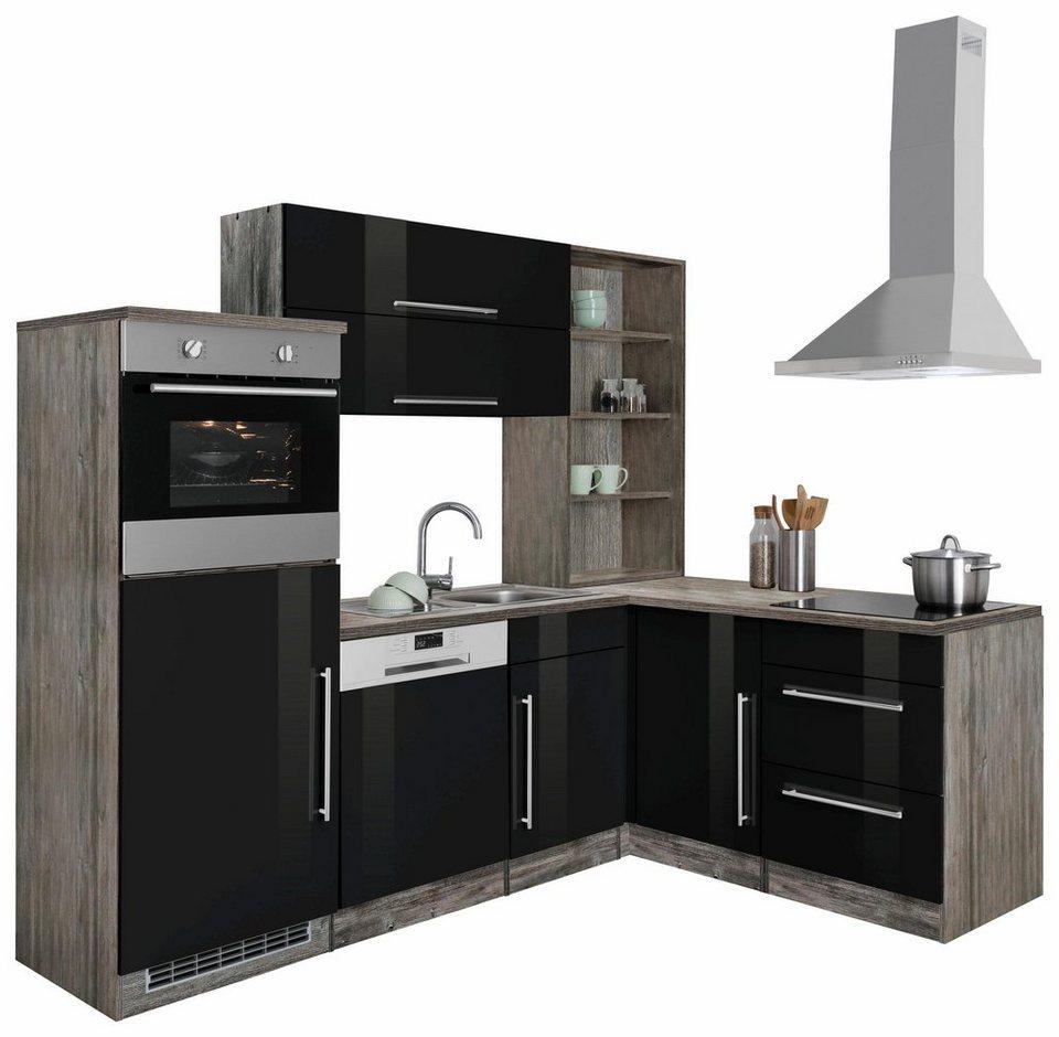 HELD MÖBEL Winkelküche »Samos«, mit E-Geräten, Stellbreite 230 x 170 cm  online kaufen | OTTO