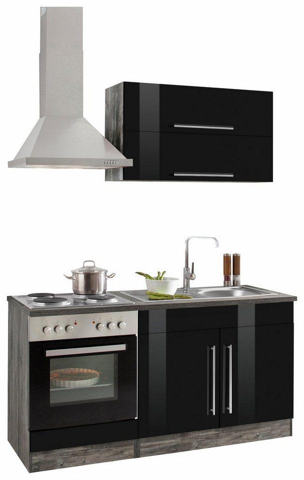 Küchenzeile 160 cm  HELD MÖBEL Küchenzeile mit E-Geräten »Samos«, Breite 160 cm online ...