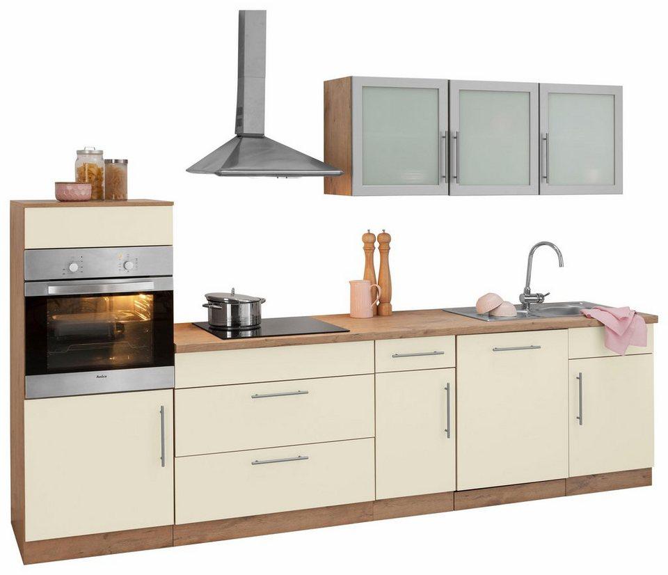 Küchenzeile Aachen , mit E Geräten, Breite 300 cm OTTO