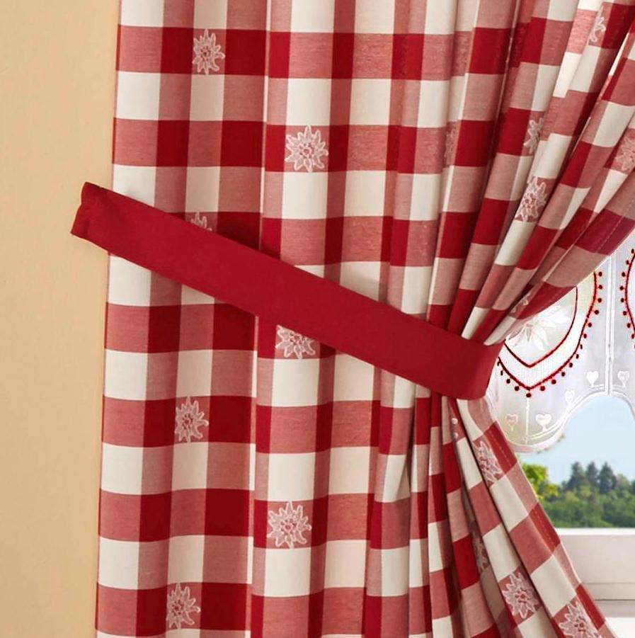 Raffhalter, Stickereien Plauen, »Durach« (2 Stück) in rot