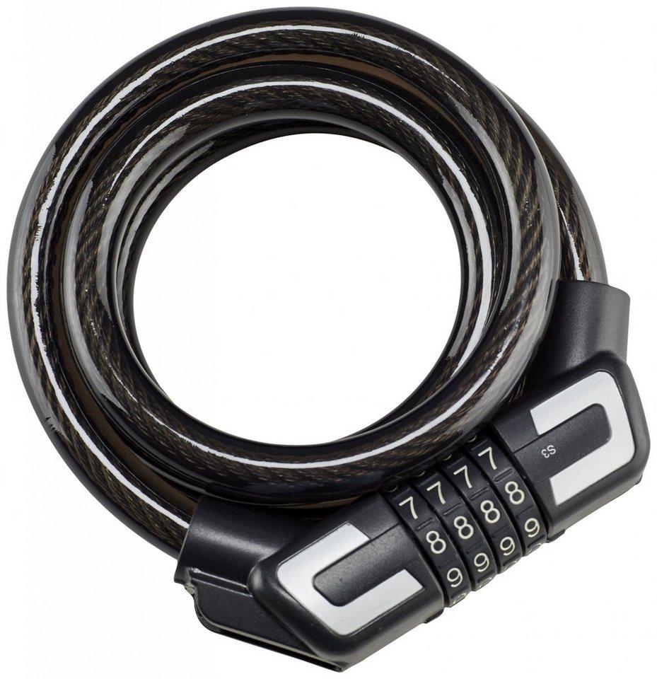Trelock Fahrrad-Zubehör »Silver Edition Spiralkabelschloss Kombi S3 180/15«
