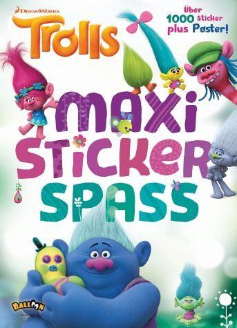 Broschiertes Buch »Trolls - Maxi-Stickerspaß«