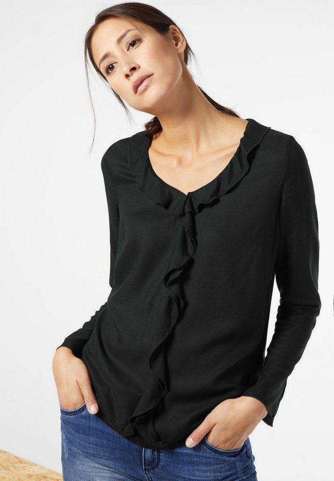 Street One Bluse mit Volant Karmen in black