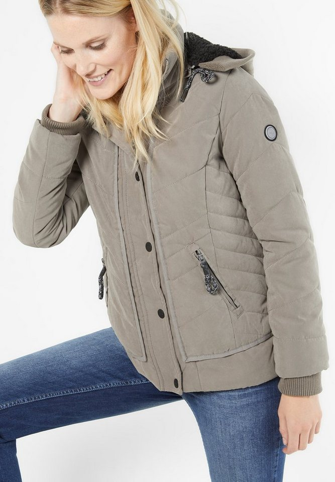 CECIL Softe Steppjacke in light powdered taupe