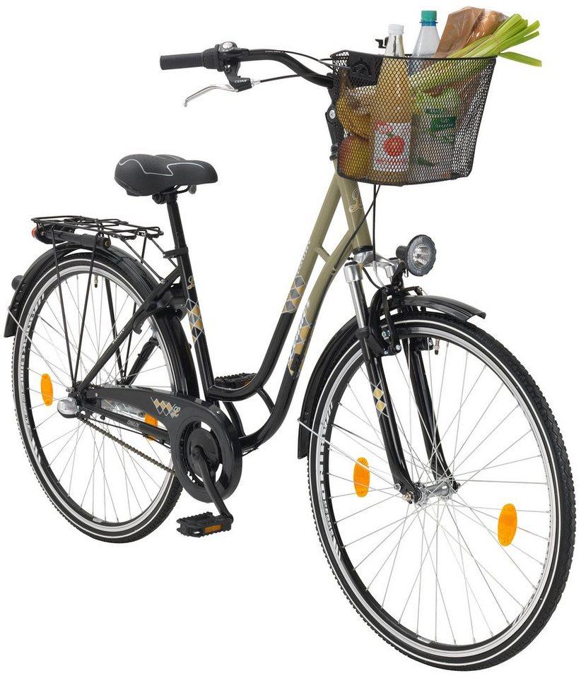 onux citybike damen toury 26 28 zoll 3 gang r cktrittbremse online kaufen otto. Black Bedroom Furniture Sets. Home Design Ideas